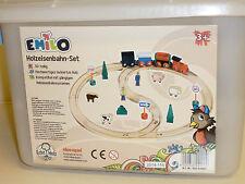 """EMILO Holzeisenbahn Set """"Super Acht"""" , 30 Teile, Holzspielzeug, Neu, ab 3 Jahren"""