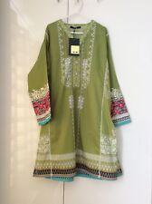 khaadi embroidered green kurta, size large, UK size 16 ( Khaadi size 12) BNWT