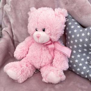 Plush Super Soft Teddy Bear Cuddly Toy Baby Girl Boy Gift with Ribbon Pink/Blue