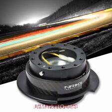 NRG Black/Carbon Fiber GEN 2.5 Race 6-Hole Steering Wheel Quick Release Adapter