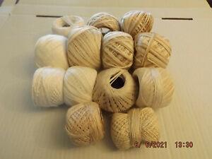 Job lot 420g. 100%  vintage cotton. Ideal for crafts/crochet. Several colours.