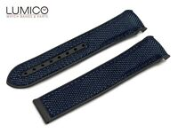 For 20mm 22mm OMEGA SeaMaster Planet BLACK BLUE Rubber Strap Watch Band Clasp