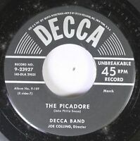 50'S Decca Nos 45 Decca Band - The Picadore / The Free Lance On Decca
