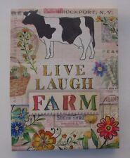 p Live Laugh Farm cow PURSE NOTE PAD mini Punch Studio 75 sheets