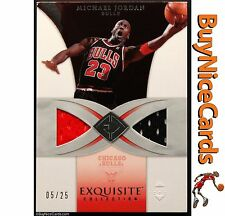 2006-07 Michael Jordan Upper Deck Exquisite 2 Color Game Used Patch /25