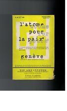 L 'Atom pour la paix-Atome for Peace GENEVE - 1955