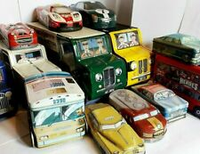 UK ADVERTISING TINS  - VEHICLE SHAPED & OTHERS - click SELECT to browse or order
