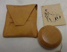 Yo-Yo Vintage All Wood with Leather Pouch and Instructional Booklet
