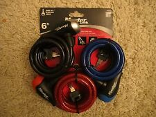 6 ft. Colored Vinyl-Coated Keyed Cable Lock (3 per Pack)