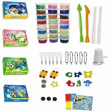 Polymer Clay Set viele Farben Zubehör DIY Fimo Soft Knete Kinder Ton lufthärtend