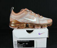 New Nike Air VaporMax 2019 Women's in Rose Gold/Summit White Colour Size 8