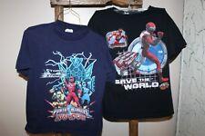 2 POWER RANGERS T-Shirts~STORM STRIKE Ninja Storm~OPERATION OVERDRIVE~Red Ranger
