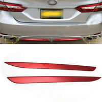 For 2018-2020 Toyota Camry SE XSE Red Rear Bumper Plate Decorator Pad Cover Trim