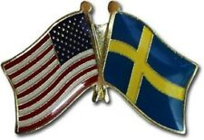 USA American Sweden Flag Bike Motorcycle Hat Cap lapel Pin