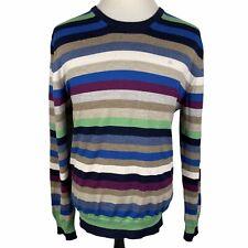 Pebble Beach J Lindeberg Crew Neck Wool Sweater Pullover Golf 2XL XXL Blue Green