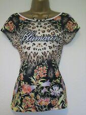 Blumarine colourful floral animal print t-shirt/top size Large