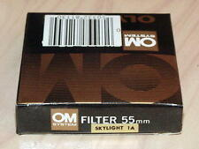 OLYMPUS OM ZUIKO 55mm SKYLIGHT 1A FILTER NEW IN BOX
