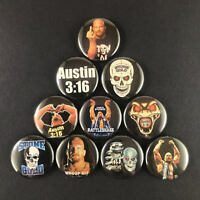 "Stone Cold Steve Austin 1"" Button Pin Set Wrestler WWF Wrestling Hell Yeah"