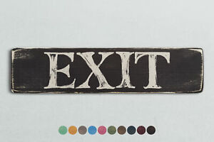 EXIT Vintage Style Wooden Sign. Shabby Chic Retro Home Gift