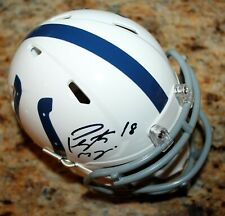 PEYTON MANNING INDIANAPOLIS COLTS SIGNED AUTHENTICATED AUTO NFL MINI HELMET COA