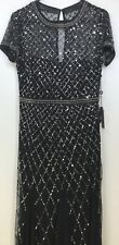 Adrianna Papell Size 8 Sequin Mother of Bride Formal Gown / Long Dress Prom Ball