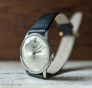 Gents Vintage Longines 19.4 17J Cross Hair Dial Dress Wind Up Watch - Working