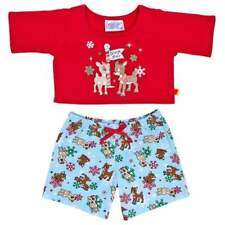 Build a Bear Rudolph & Clarice Reindeer Christmas Pajamas PJ Shirt & Pants NWT
