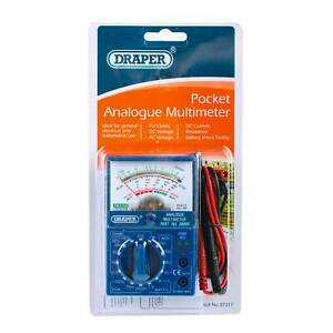 Draper Pocket Analogue Multimeter for General and Automotive Use DC AC Voltage