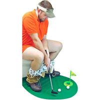 Potty Putter Toilet Time Mini Golf Game Funny Novelty Gag White Elephant Gift