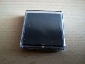 BLACK INK PAD (BRAND NEW SEALED) RUBBER STAMP FINGERPRINT 35mm x 35mm