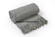 100% Cotton Soft Hand Woven Light Weight Adults Cellular Blanket Throw Bedding