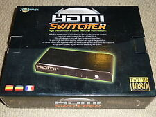 4 porte HDMI Switch-Quattro Nuovo di Zecca! origine Switcher + REMOTE 1080p PS3 Xbox 360