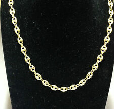 "14k Yellow Gold Puffed Anchor  Mariner 26"" chain necklace 6.9 MM 19 grams"