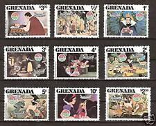 GRENADA # 1021-9 DISNEY Christmas Snow White & Dwarfs