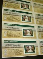US #RW73b $15.00 Ross' Goose, Self Stick Press Sheet of 18