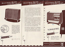 alter Faltprospekt Möbelwerke HERMANN STAMMSCHROER KG 1957/58 Tonmöbel   ( 4707