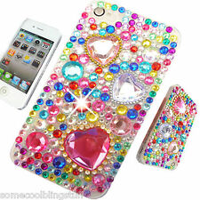 NEW 3D BLING COOL DELUX CLEAR DIAMANTE CASE COVER 4 IPHONE 3gs 4 4s 5 5s 5c 6 7