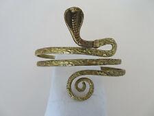 Fabulous Antique Brass Armlet Arm Bracelet Egyptian Style Cobra Head XLNT 1920s