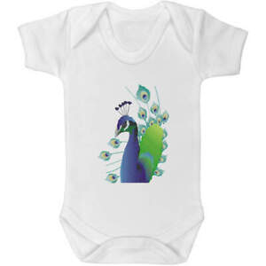 'Peacock' Baby Grows / Bodysuits (GR021897)
