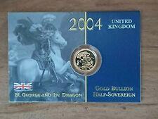 More details for royal mint 2004 gold bullion half sovereign elizabeth ii on original sealed card