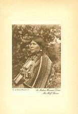 "Rodman Wanamaker-Joseph Dixon photogravure "" Mrs Wolf Plume ""  1913 original"