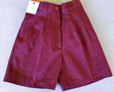 BNWT Boys Sz 6 LW Reid Brand Royal Blue Gaberdine Elastic Waist School Shorts