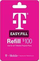 T-Mobile Prepaid Refill Card $100 (Direct Refill)
