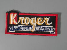 Kroger Grocery Store Patch / New Old Stock of Embroidery Company / FREE Ship