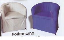 Poltrona divanetto sedia relax salone,camera da letto ecopelle tutti i colori