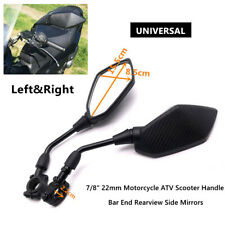 """7/8"""" Universal Motorcycle ATV Scooter Handle Bar End Rearview Side Mirrors Part"""