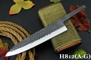 "Custom 11.4"" Hammered Spring Steel 5160 Blank Blade Chef Knife,No Damascus(H812B"