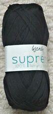 Wendy Supreme Luxury Cotton Knitting Yarn 100g Black 1833