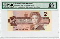 Canada $2 Dollars Banknote 1986 BC-55b-i PMG Superb GEM UNC 68 EPQ