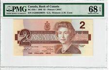 Canada  5 Dollars 1986 BC-56d PMG 58 EPQ